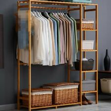 Wooden Clothes Garment Hanging Stand Shoe Rack Storage Shelf/Plant Flower Stand