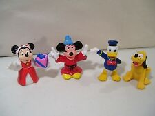 LOT OF 4 VINTAGE DISNEY MICKEY MOUSE & FRIENDS PVC FIGURES DONALD MINNIE PLUTO