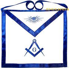 Blue Lodge Masonic Cotton Apron with Square & Compass DMA-1000