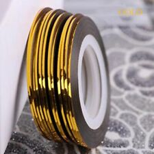 Gold Nail Art Striping Tape Line Strips Nails Decoration Stickers 1mm