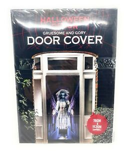 1xHalloween Scary Door Cover Spooky Theme Party Decor ( Zombies , Bride , Wolf )