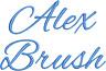 Alex Brush Machine Embroidery Alphabet Monogram Fonts Designs