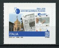Italy Stamps 2018 MNH Avvenire Newspapers 50 Years Architecture 1v S/A Set