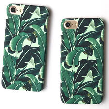 Ultra Thin Hard Plastic Green Leaf Case Phone Cases For iphone 7 6 6S Plus 5 5S