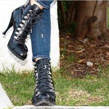 Balenciaga Black Leather Biker Boots, Size 39.5