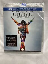 THIS IS IT Michael Jackson 3D Blu-Ray SEALED NEW Enhanced Edition PROMO BLURAY