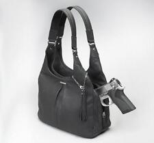 GunTotenMamas GTM-32 ConcealedCarry Handbag Pleated Leather Slouch Black or Brwn