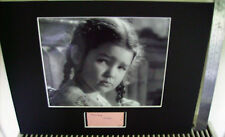 MANDY MILLER CHILD STAR OF THE 50'S AUTHENTIC SIGNED AUTOGRAPH DISPLAY UACC RARE