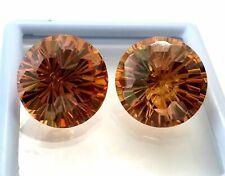 10X10MM 6.39CT AAAAA Natural Heart Champagne Zircon Diamond Cut VVS Loose Gems