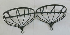 ETAGERE en METAL, 2 étagères en fer forgé, en applique, 2 ÉTAGÈRES en MÉTAL .