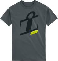 Icon 1000 Neo Slant T Shirt Gray w/ Graphic Motorcycle Street Bike Rider Tee