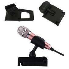 Adjustable Mini Desk Table Microphone With Mic Shock Mount Clip Stand Holder NEW