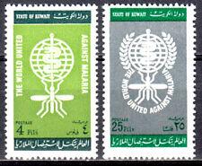 KUWAIT 1962 WHO DRIVE MALARIA ERADICATION ISSUE SCOTT #183-184 MNH