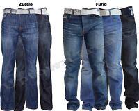 "NEW MENS SMITH & JONES BOOTCUT FLARED & STRAIGHT LEG BLUE JEANS 28"" - 48"" Waist"