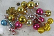 Lot of Vintage 1950's Christmas Glass Mercury Ornaments With Wire