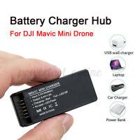Cargador de Batería Hub Negro para Dji Mavic Mini Dron RC Inteligente Rápido