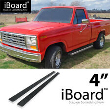 "4"" Silver eBoard Running Boards For 80-96 Ford F-Series/Bronco Regular Cab 2Dr"