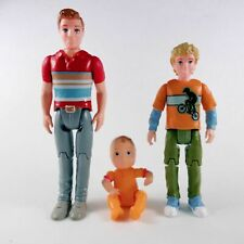 3pcs FISHER PRICE Grand Dollhouse Loving Family Father BROTHER & Baby