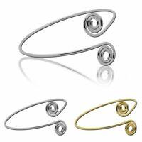Vintage Oberarmreif Armband Armspange Silbern Golden Bangle Spiralen Accessoires