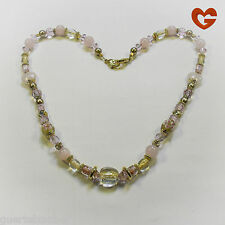 GÜRTELZAUBER LANGE HALSKETTE Rosenquarz NECKLACE LONG rose quartz