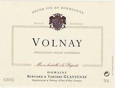 6 BOTTLES VOLNAY 2017 DOMAINE BERANRD & THIERRY GLANTENAY - Volnay