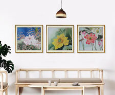 Artwork Lotus Flower Hand Painted Chinese Brush ink watercolor painting Wall Art