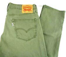 Levi's 511 Skinny Slim Fit Men 34 x 34 Green Stretch Zip Tapered Leg Khaki Jeans