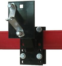 Black Trailer Tongue Spare Tire Carrier Mount With Lock New Free Shipping USA