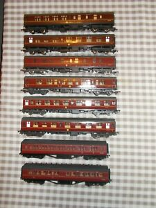 oo gauge 8 coaches bachmann/lima..good condition USED.