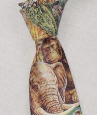 "Ralph Marlin Jungle Themed 3.25"" Wide Skinny Tie"