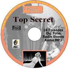 TOP SECRET 16 Old Time Radio Espionage Shows  Audio MP3 CD