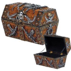 Pirate's Treasure Chest Jewelry Trinket Keepsake Box