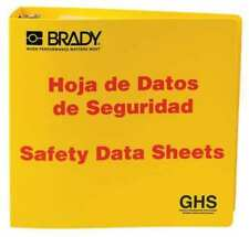 Brady 121186 Binder, Right To Know Safety Data Sheet, Height: 11 5/8 In