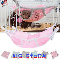 Pet Small Animals Hamster Hammock Toys Cage Sleeping Bed Swing Hanging House US