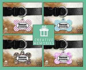 Personalised Pet Dog Name ID Tag For Collar Pet Tags - Pattern designs