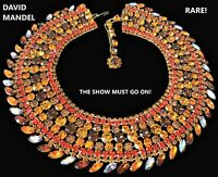 DAVID MANDEL The Show Must Go On Vintage Massive Runway Collar Necklace RARE!