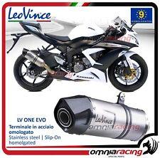Leovince LV ONE Evo Pot D'Echappement acier Kawasaki ZX6R Ninja / 636 2013>2016