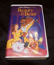 Beauty and the Beast VHS 1992 WITH INSERTS Black Diamond Classic Walt Disney