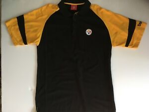 Authentic Pittsburgh Steelers NFL Polo Golf Coaches Shirt