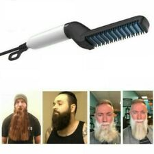 Men Beard Straightener Combs Pro Electric Hair Curling Quick Styling Irons Heat