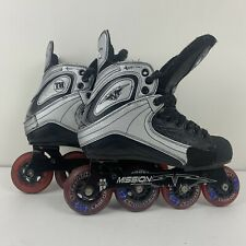 Mission Hi-Lo Rx Inline Hockey Rollerblades Size 6D 6 D