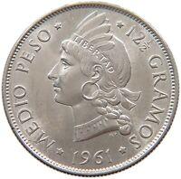 DOMINICAN REPUBLIC 1/2 PESO 1961 TOP #s35 089
