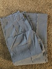 "A BRAND NEW BLUE DOGTOOTH CHEFS TROUSER SIZE 108R, 40""-42"" APPROX"