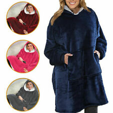Sherpa Lining Plush Comfy Sweatshirt Casual Oversized Hoodie with Pocket Blanket