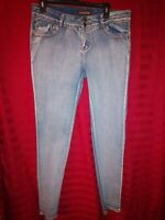 ABM Brand Womens Jeans Junior Sz 13 LIGHT BLUE WASHED DENIM