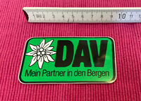Aufkleber DAV Mein Partner in den Bergen - Deutscher Alpenverein Autocollant