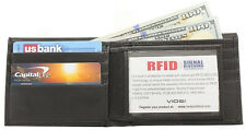 New Leather Slim Wallet For Men Bifold Wallet With Id Window Rfid Blocking