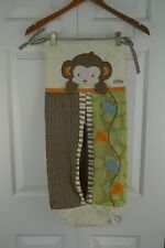 CoCaLo Baby Azania Diaper Stacker & Crib Skirt Monkey Jungle Green Brown Nursery