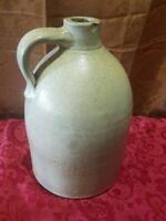 Antique One Gallon Salt-glaze Stoneware Beehive Jug