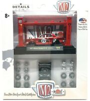 "M2 Machines 1971 Nissan Skyline GT-R GTR no.77 Red R16 17-17 1/64 3"" Car"